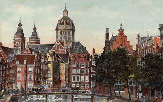 Ansichtkaart Amsterdam O.Z. Kolk 1908 HC9942