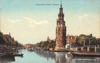Ansichtkaart Amsterdam Oude Schans Binnenvaart schepen Scheepvaart HC9953
