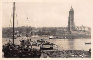 Ansichtkaart Rhenen Het Veer Veerpont Stad Rhenen Binnenvaart schepen Scheepvaart 1942 HC9980