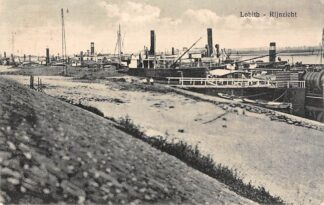 Ansichtkaart Lobith Rijnzicht Binnenvaart schepen Scheepvaart Jaren 20 HC9985
