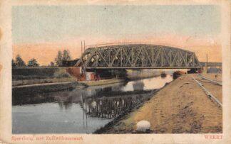 Ansichtkaart Weert Spoorbrug met Zuidwillemsvaart en spoorlijn Spoorwegen HC9989