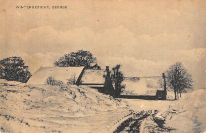 Ansichtkaart Zeegse Winter gezicht Boerderijen in de sneeuw Tynaarlo Drenthe  HC9994