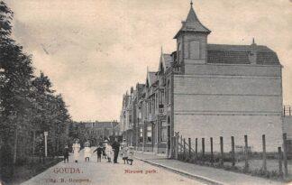 Ansichtkaart Gouda Nieuwe Park Van Beverninghlaan Gompers 1907 HC9997