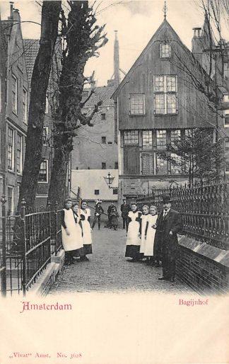 Ansichtkaart Amsterdam Bagijnhof Klederdracht HC9999