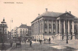 Ansichtkaart Groningen Stadhuis met trams Tram HC10555