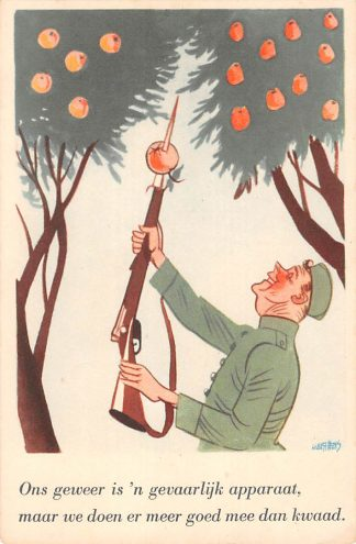 Ansichtkaart Militair Illustrator Guust Hens Mobilisatie serie WO2 1940 Soldaten humor HC10636