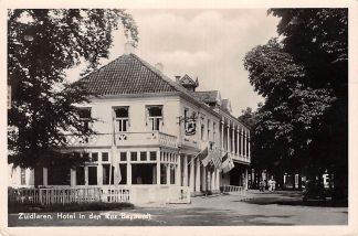 Ansichtkaart Zuidlaren Hotel in den Ros Beyaerdt 1953 Drenthe HC10717