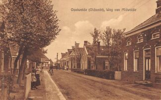 Ansichtkaart Oostwolde Oldambt Weg naar Midwolde 1932 HC10764
