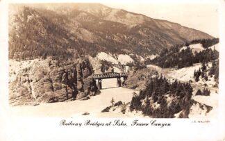 Ansichtkaart Canada Railway Bridges at Siska Fraser Canyon Noord-Amerika Spoorwegen 1953 HC10783
