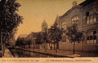 Ansichtkaart Schoonhoven De Christelijke Volks school HC10787
