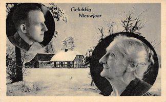 Ansichtkaart Militair Mobilisatie 1939 WO2 Gelukkig NIeuwjaar Moeder denkt een haar zoon Soldaten Boerderij in de winter HC10799
