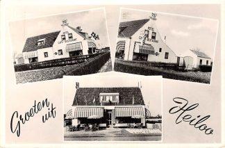 Ansichtkaart Heiloo Groeten uit 1957 Hotel Café Restaurant Tolhuis Rijksstraatweg 425  HC10813