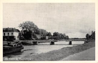 Ansichtkaart Hardenberg De Vecht met brug en binnenvaart schip 1954 HC10818