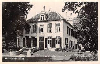 Ansichtkaart Ede Gemeentehuis 1954 HC10822