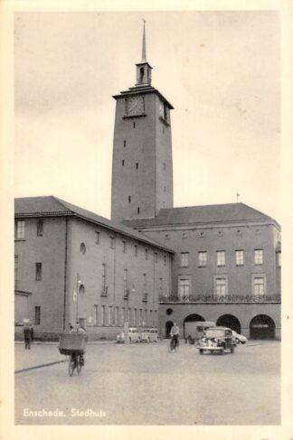 Ansichtkaart Enschede Stadhuis Auto 1956 HC10841
