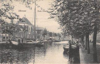 Ansichtkaart Alkmaar Oude Gracht met binnenvaart schepen Scheepvaart HC10863
