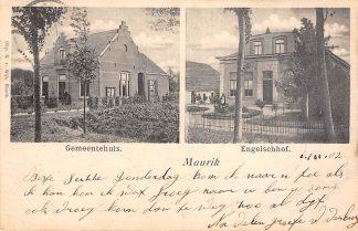 Ansichtkaart Maurik Gemeentehuis en Engelsch hof 1902 Buren (GD) Tiel Betuwe HC10869