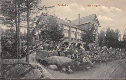 Ansichtkaart Duitsland Schierke Café Waldpark Deutschland Europa HC10876