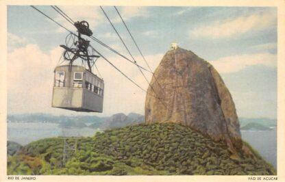 Ansichtkaart Brazilië Rio de Janeiro Pao de Acucar Kabelbaan Brasil Zuid-Amerika  HC10898