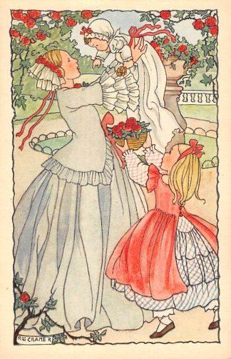 Ansichtkaart Rie Cramer Fantasie Kinderen uit school HC10918