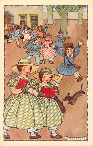 Ansichtkaart Rie Cramer Fantasie Vrouw met baby en kind Illustrator HC10919