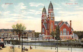 Ansichtkaart Rotterdam Koninginne Kerk RTM tram 74 lijn5 1910 HC10924