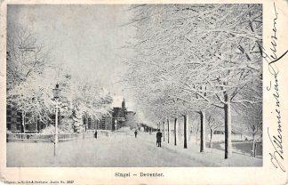 Ansichtkaart Deventer Singel in de sneeuw Winter 1904 HC10926