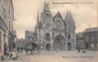Ansichtkaart Frankrijk Blangy-sur-Bresle Place de l'Eglise 1908 Paard en wagen France Europa HC10945