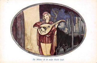 Ansichtkaart Rie Cramer De minne di in mijn Harte leyt Oudt Nederlandsche Minneliedjes Fantasie HC10959