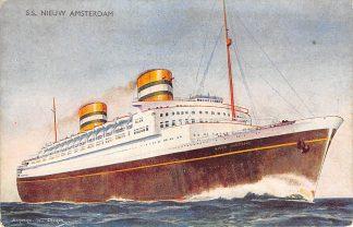 Ansichtkaart Holland America Line S.S. Nieuw Amsterdam Scheepvaart Holland Amerika Lijn HC10982