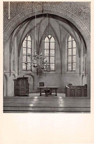 Ansichtkaart Hees Nijmegen Interieur der Ned. Herv. Gem. 1951 HC10995