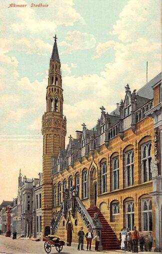 Ansichtkaart Alkmaar Langestraat Stadhuis HC10999
