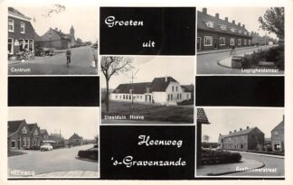 Ansichtkaart Heenweg 's-Gravenzande Groeten uit Centrum Lugtigheidstraat Staelduinhoeve Boelhouwerstraat 1968 HC11009