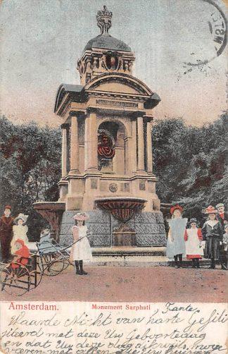 Ansichtkaart Amsterdam Monument Sarphati 1904 HC11022
