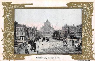 Ansichtkaart Amsterdam Hooge Sluis met Paleis voor Volksvlijt HC11036