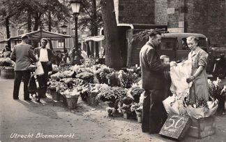 Ansichtkaart Utrecht Bloemen markt 1960 HC11050