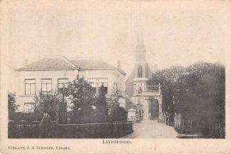 Ansichtkaart Leiderdorp Brug bij de kerk HC11085
