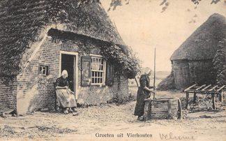 Ansichtkaart Vierhouten Boerderij Klederdracht Veluwe HC11107