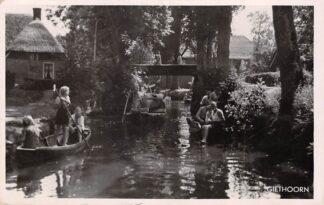 Ansichtkaart Giethoorn Reclame Bonds hotel Pension Prinsen Beulakerwiede 1949 HC11110