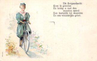 Ansichtkaart Bergambacht Uit Bergambacht kom ik gereden op de fiets 1907 HC11118