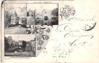 Ansichtkaart Amersfoort 1900 Koppelpoort Eemzijde en stadszicht Monnikendam HC11119