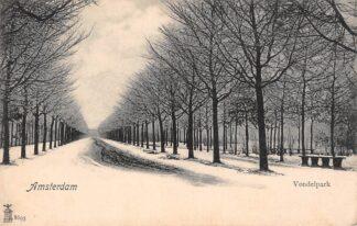 Ansichtkaart Amsterdam Vondelpark in de winter met sneeuw HC11121