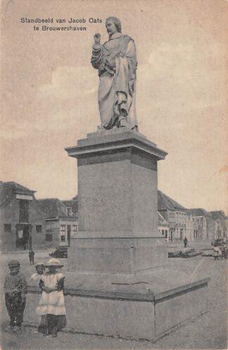Ansichtkaart Brouwershaven Standbeeld van Jacob Cats 1921 HC11132