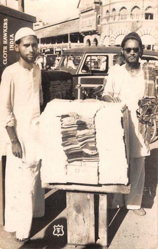 Ansichtkaart India Cloth Hawkers Fotokaart Azië HC11134