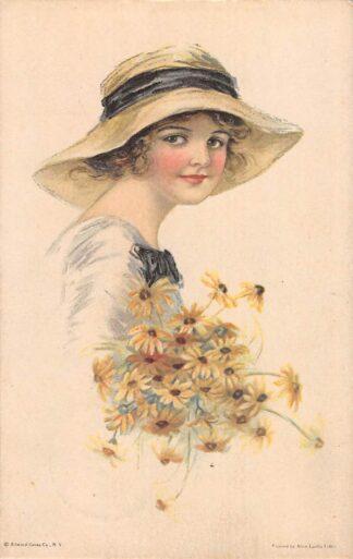 Ansichtkaart Fantasie Americain Girl No. 24 Illustrator Alice Leuelia Fidler HC11143
