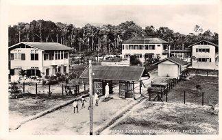Ansichtkaart Suriname Prinses Juliana Zendingshospitaal Kabel Bosland Medische zending Broedergemeente Zeist 1954 Zuid-America HC11148