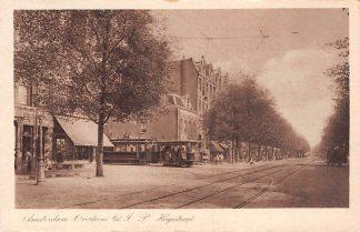 Ansichtkaart Amsterdam Tram Overtoom b/d J.P. Heyestraat HC11154