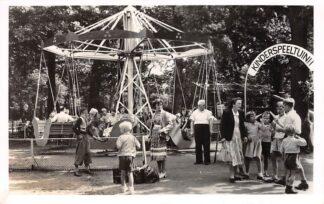 Ansichtkaart Naarden Gedeelte Kinder speeltuin Oud-Valkeveen 1954 HC11156