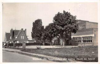 Ansichtkaart Waubach Mr. Terpstraschool met woning Hoofd der School Ubach over Worms Landgraaf HC11176