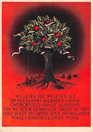 Ansichtkaart Bevrijding Mei 1945 WO2 Wij leven vrij wij leven blij … HC11186